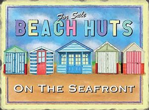 Beach Huts fridge magnet  (og)